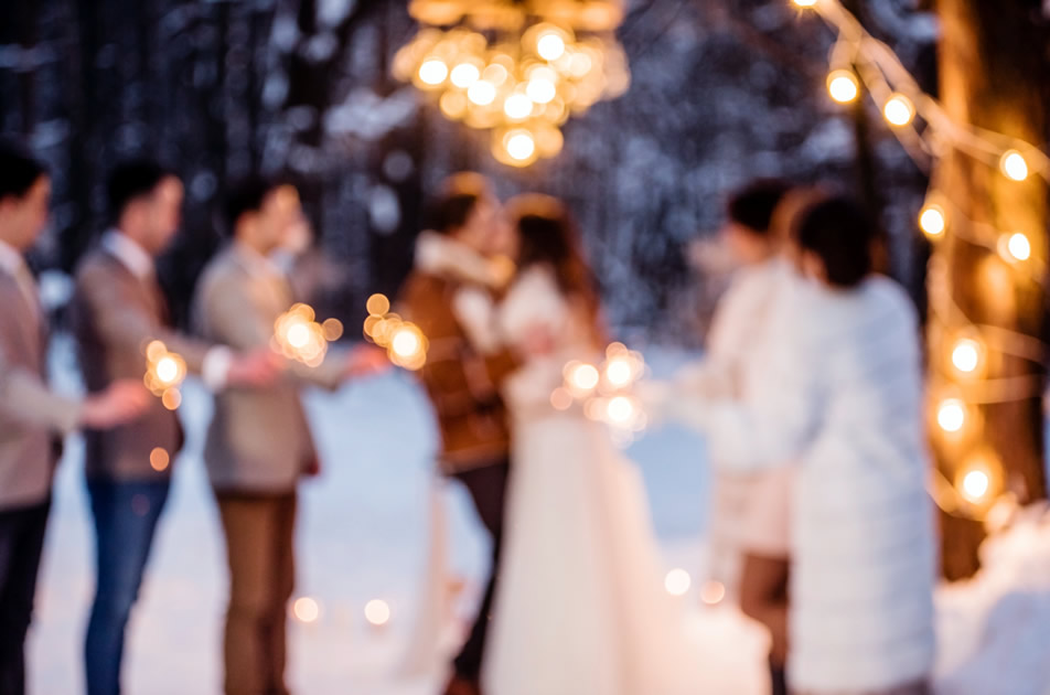 Winter Wonderland Wedding at The Barn